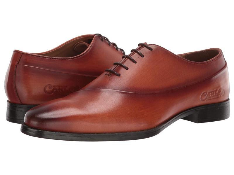 カルロスサンタナ メンズ オックスフォード シューズ Coltrane Cognac Calfskin Leather