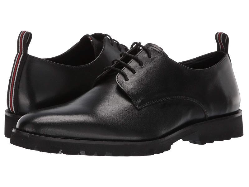カルロスサンタナ メンズ オックスフォード シューズ Power Lite Black Full Grain Calfskin Leather