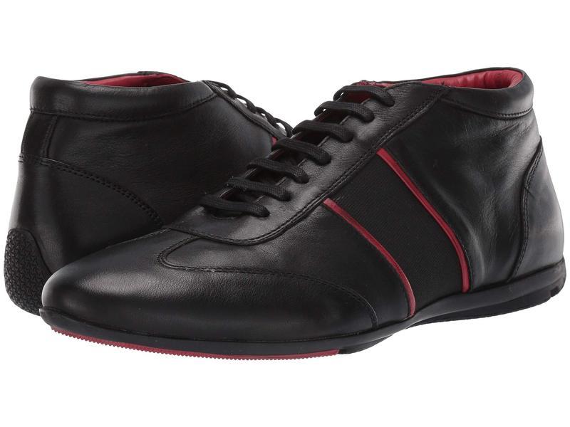 カルロスサンタナ メンズ スニーカー シューズ Fleetwood Chukka Black Calfskin Leather