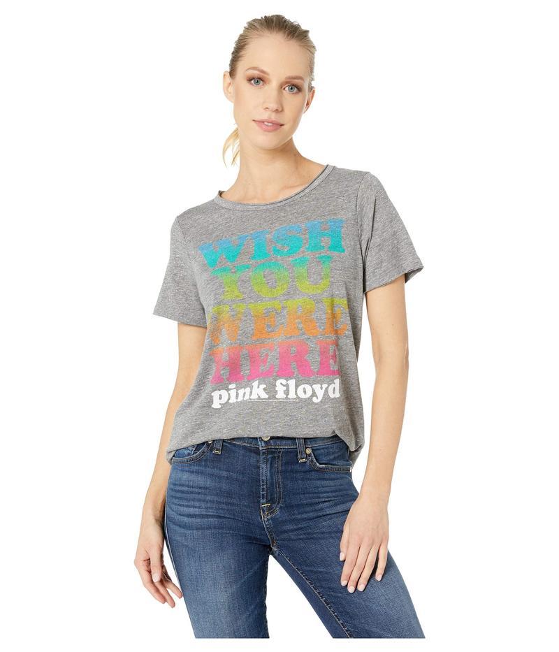 チェイサー Grey レディース シャツ Crew Streaky トップス Pink Floyd Tri-Blend Short Sleeve Crew Neck Tee Streaky Grey, passtem saison:ab35f87a --- io-es.com