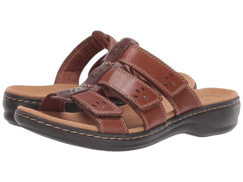 クラークス レディース サンダル シューズ Leisa Spring Brown Multi Leather