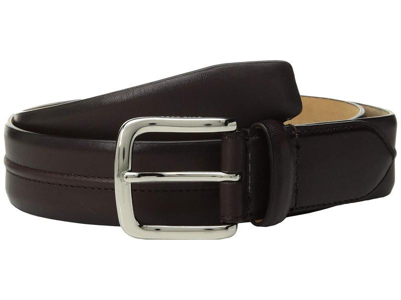コールハーン メンズ ベルト アクセサリー 35 mm Leather Belt with Trapunto Detail Chestnut