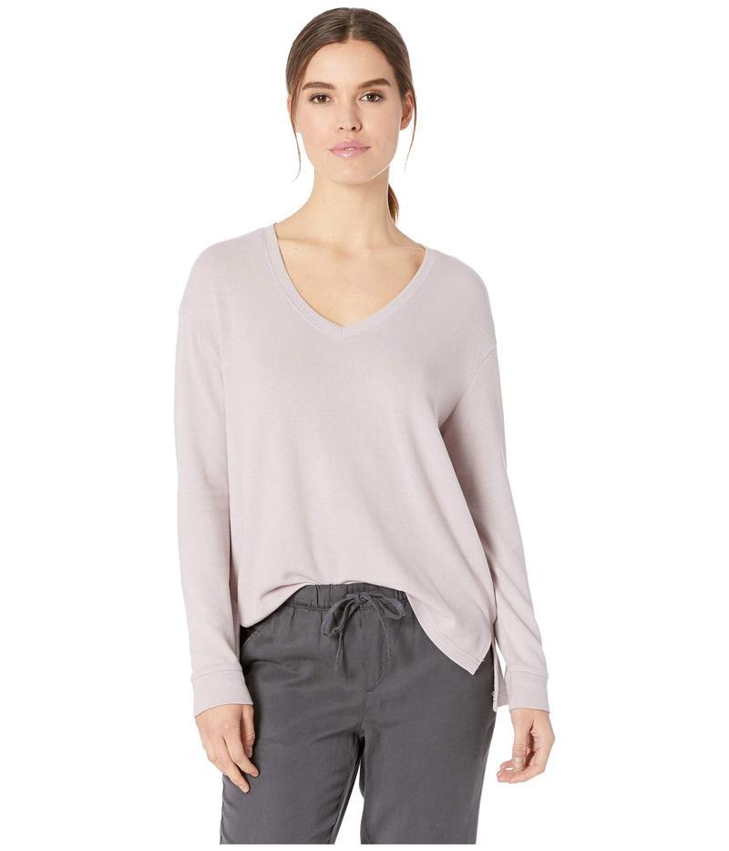 カップケーキアンドカシミア レディース シャツ トップス Gazella Ultra Soft V-Neck Sweater Faded Lilac