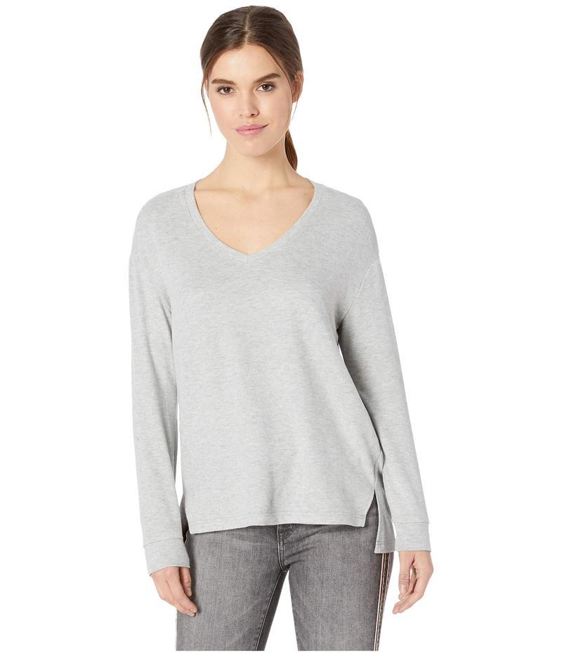 カップケーキアンドカシミア レディース シャツ トップス Gazella Ultra Soft V-Neck Sweater Heather Grey