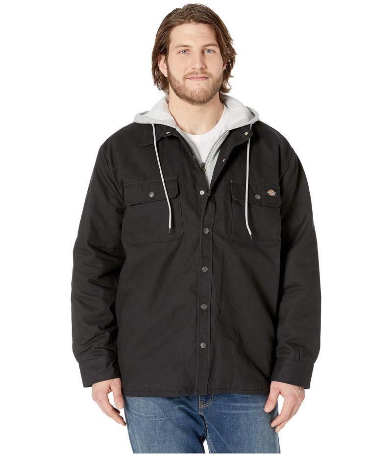 ディッキーズ メンズ コート アウター Big & Tall Relaxed Fit Icon Hooded Duck Quilted Shirt Jacket Burgundy