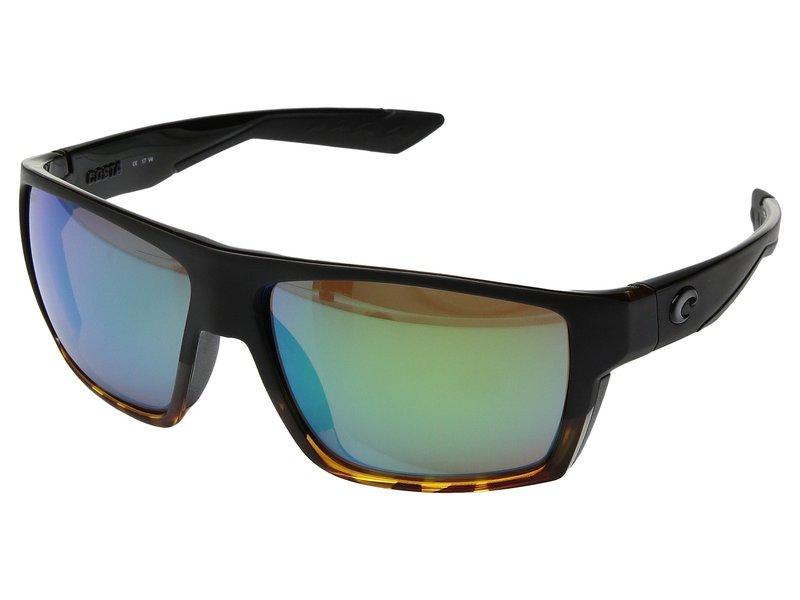 コスタ メンズ サングラス・アイウェア アクセサリー Bloke Matte Black/Shiny Tortoise Frame/Green Mirror 580G