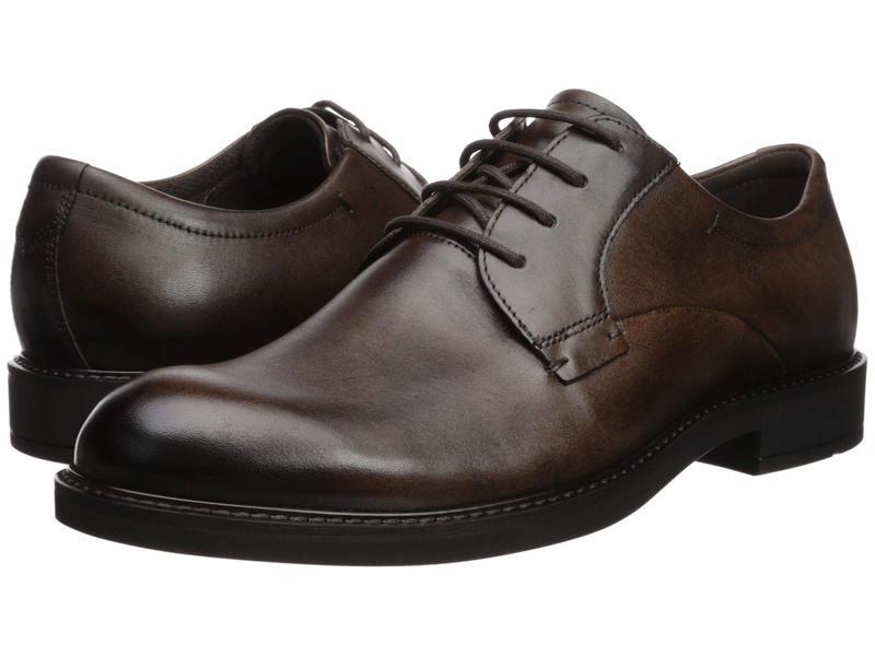 エコー メンズ オックスフォード シューズ Vitrus III Plain Toe Tie Cocoa Brown
