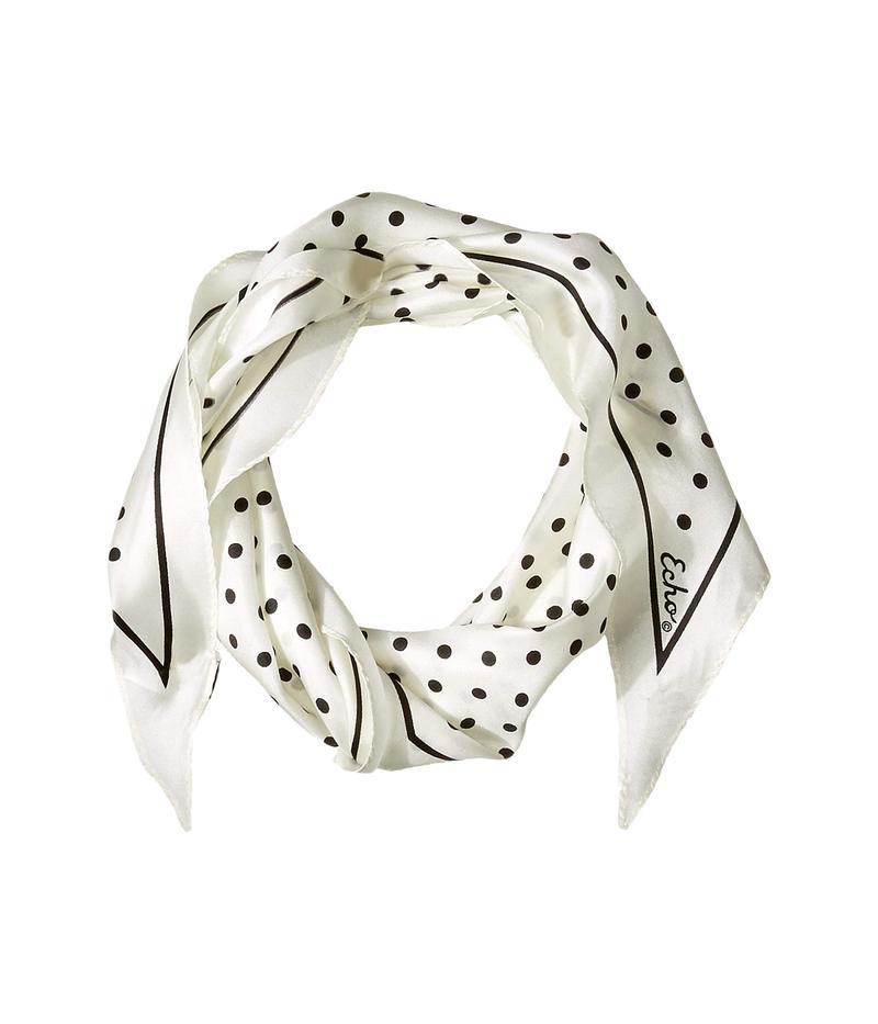 エコーデザイン レディース マフラー・ストール・スカーフ アクセサリー Dotty Silk Diamond Shaped Scarf White