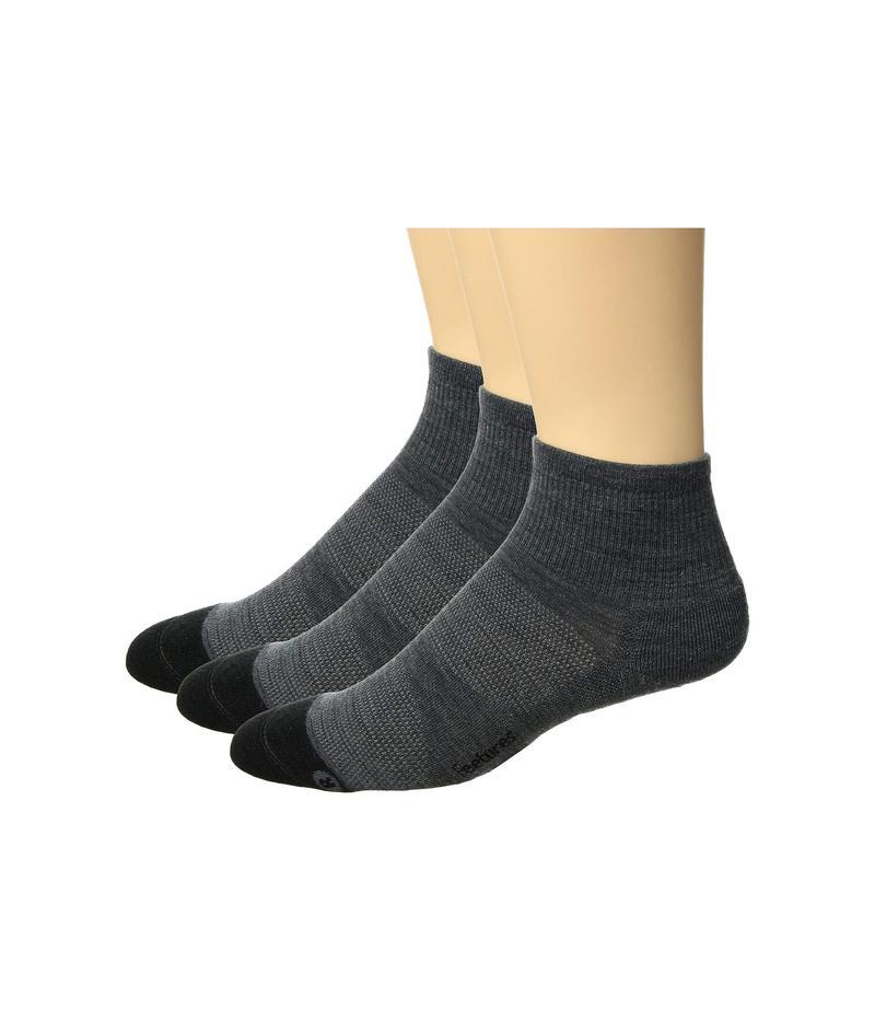 フィーチャー メンズ 靴下 アンダーウェア Merino 10 Cushion Quarter 3-Pair Pack Gray