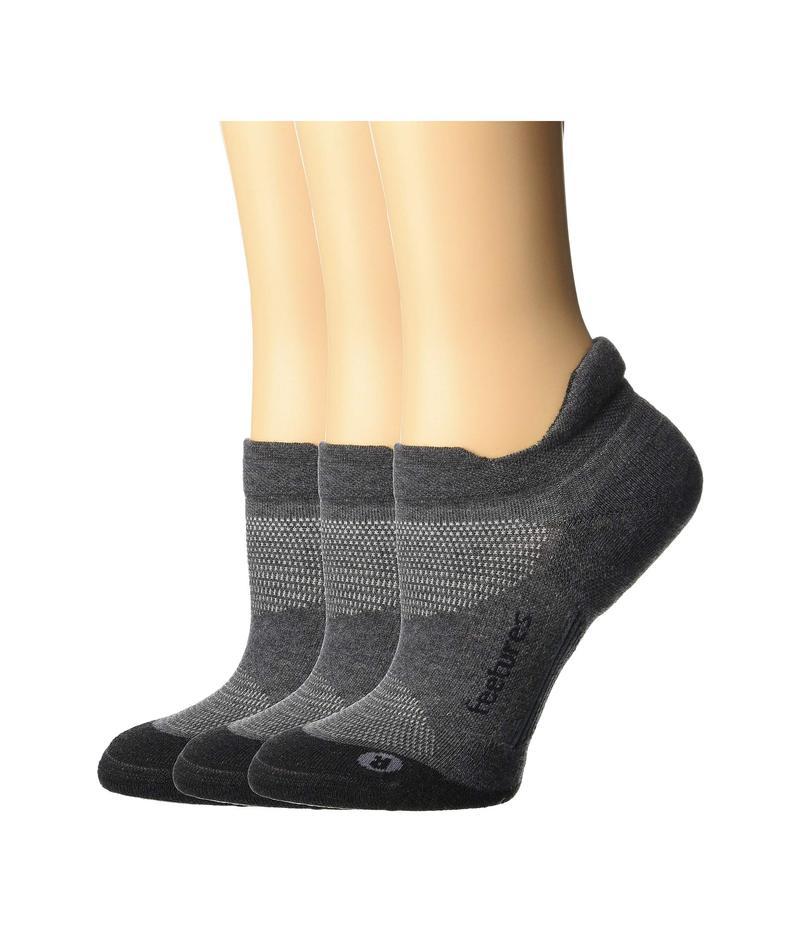 フィーチャー メンズ 靴下 アンダーウェア Elite Max Cushion No Show Tab 3-Pair Pack Gray