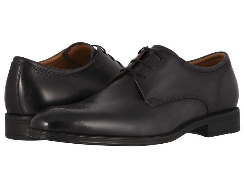 フローシャイム メンズ オックスフォード シューズ Amelio Perforated Toe Oxford Gray Smooth