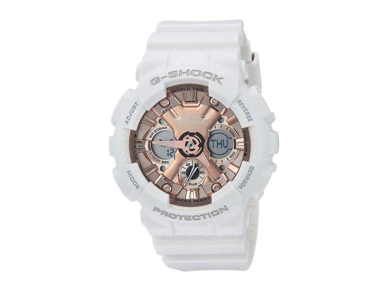 ジーショック レディース 腕時計 アクセサリー GMA-S120MF-7A2CR White/Pink/Gold