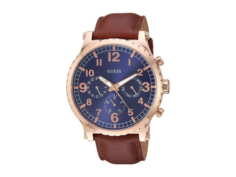 ゲス メンズ 腕時計 アクセサリー U1215G1 Brown/Gold/Blue