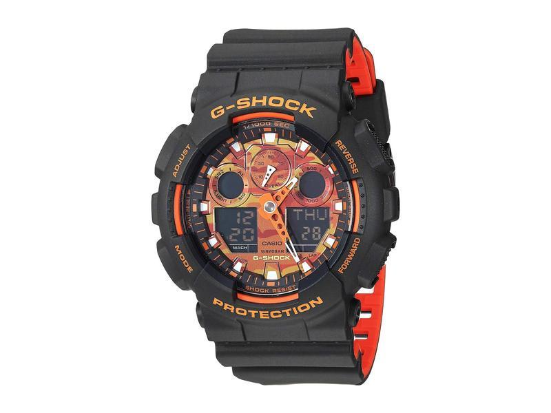 ジーショック メンズ 腕時計 アクセサリー GA-100BR-1ACR Black