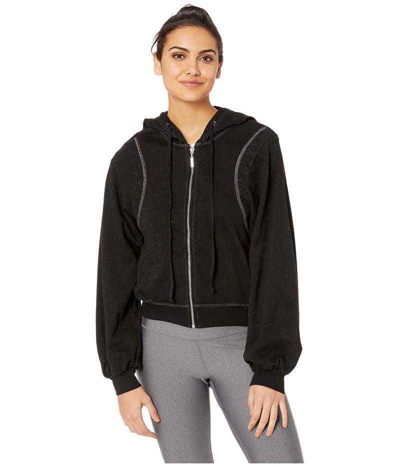 ハードテイル レディース コート アウター Reverse Angle Stripe Puff Sleeve Jacket Black