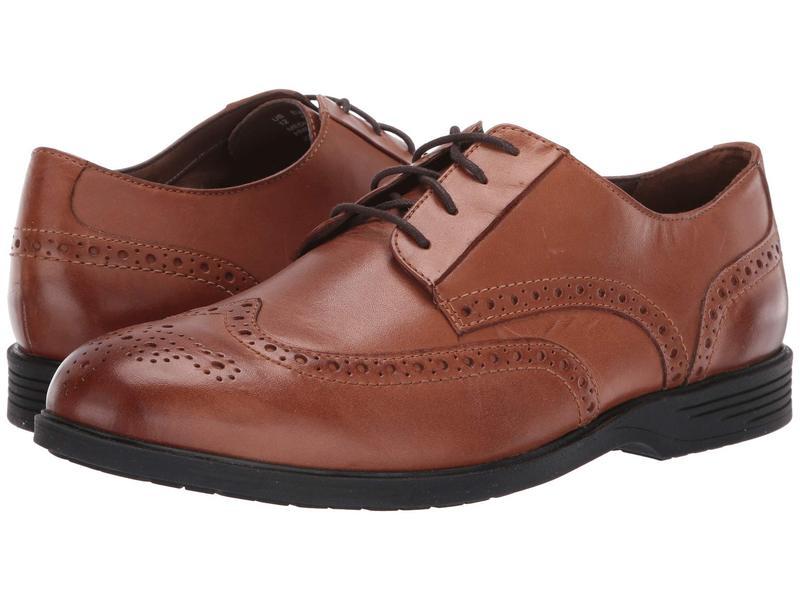 ハッシュパピー メンズ オックスフォード シューズ Shepsky WT Oxford Dark Tan Leather