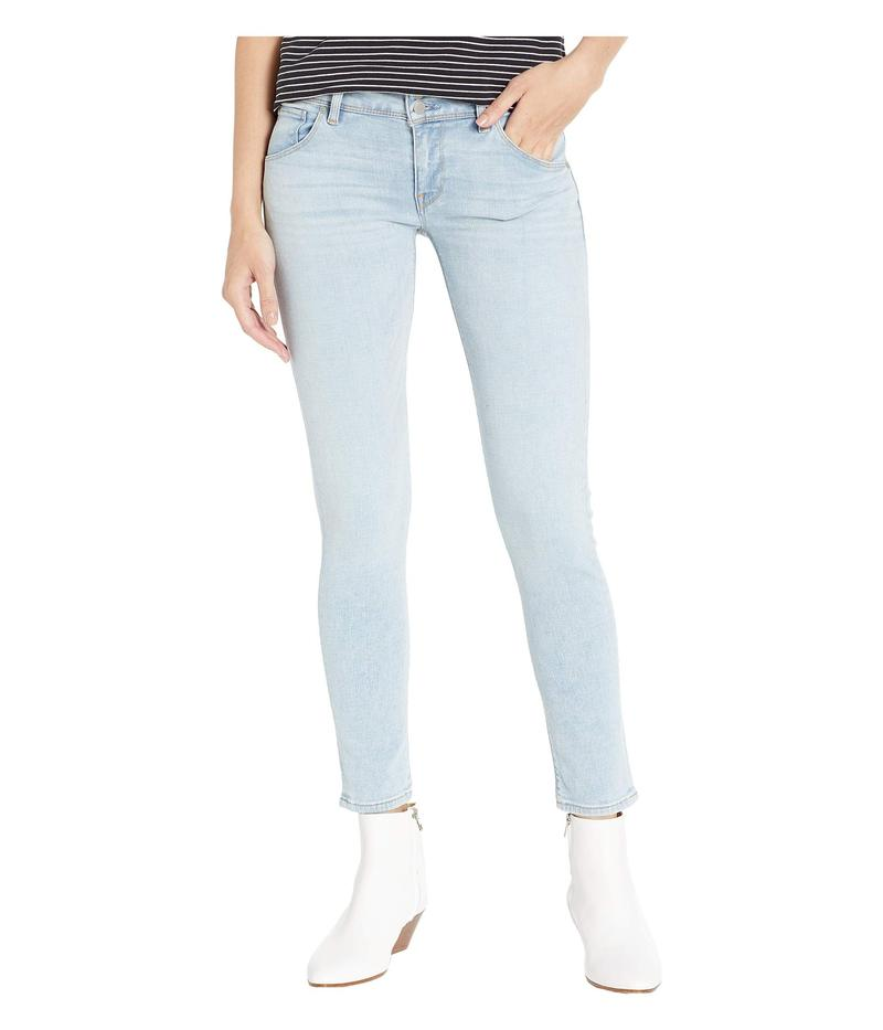 ハドソン レディース デニムパンツ ボトムス Collin Mid-Rise Ankle Skinny Jeans in Crystal Blue Crystal Blue