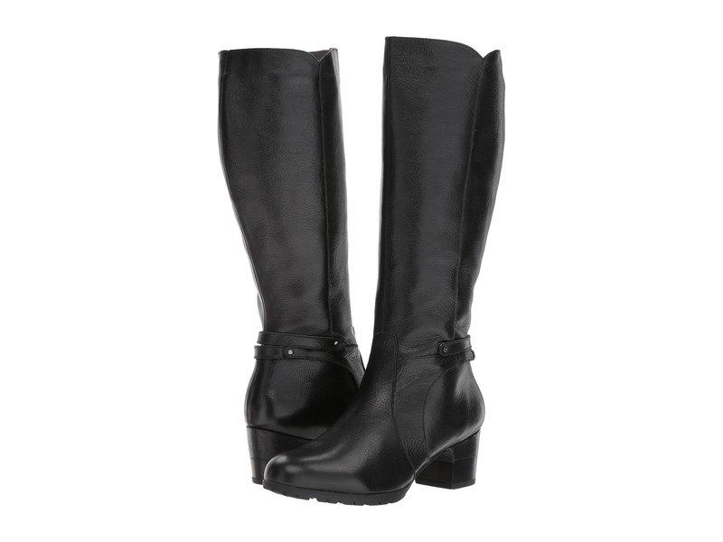 ジャンブー レディース ブーツ・レインブーツ シューズ Chai Black Full Grain Tumbled Leather