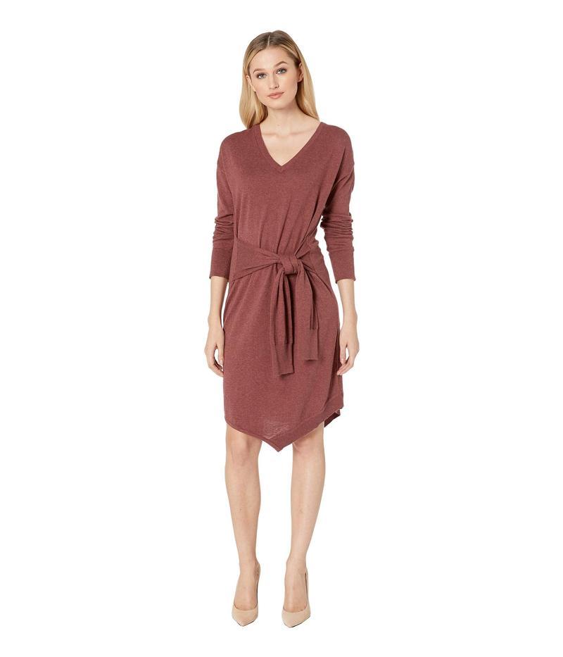 ケネスコール レディース ワンピース トップス Asymmetrical Sweater Dress Rose Brown Heather