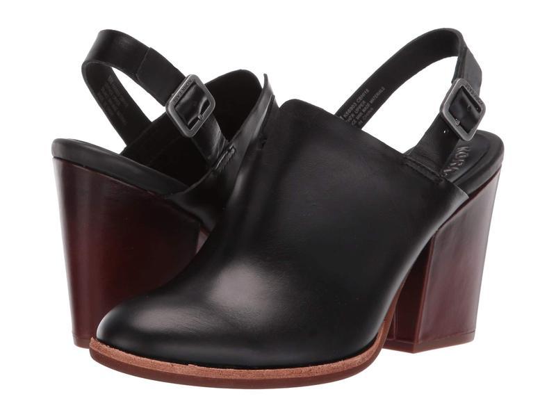 コークイーズ レディース ヒール シューズ Janelle Black Full Grain Leather