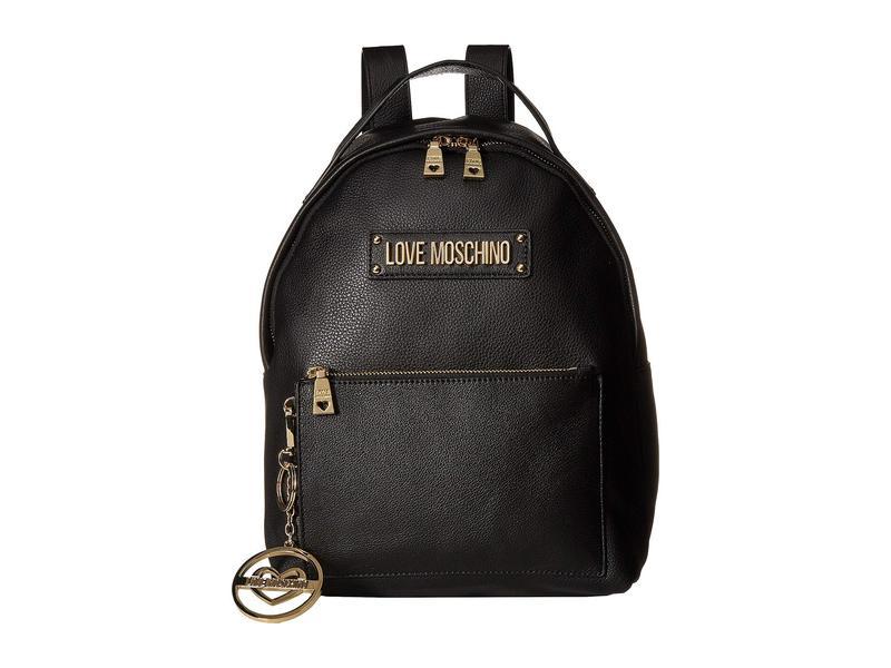ラブ モスキーノ レディース バックパック・リュックサック バッグ Classic Leather Backpack Black