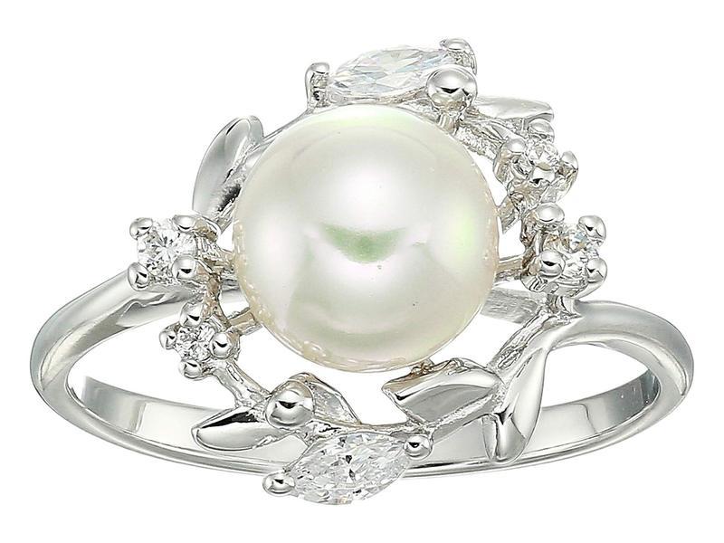 マジョリカ レディース リング アクセサリー Romance 8 mm Pearl on Sterling Silver Ring White