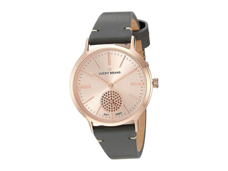 ラッキーブランド レディース 腕時計 アクセサリー Ventana Light Grey Leather Watch - LW00196 Rose Gold