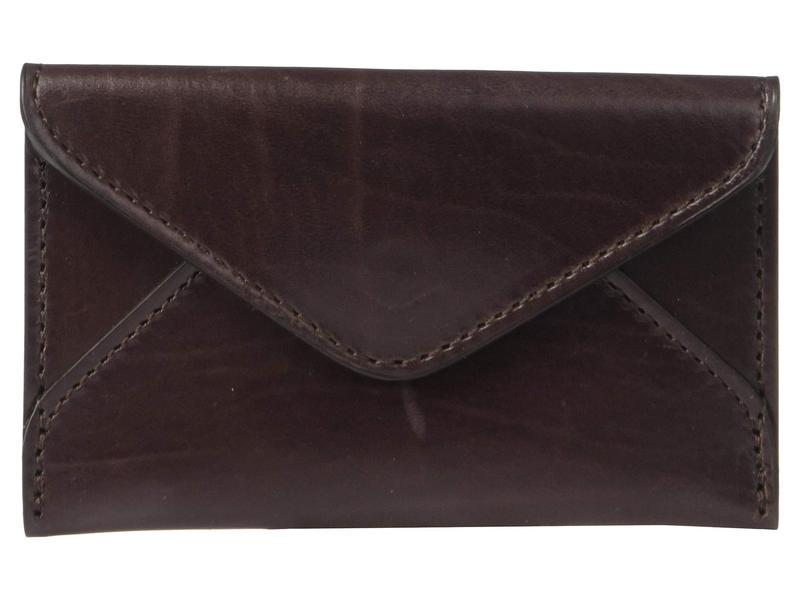ルチーズ メンズ 財布 アクセサリー Flat Leather Business Card Case Brown