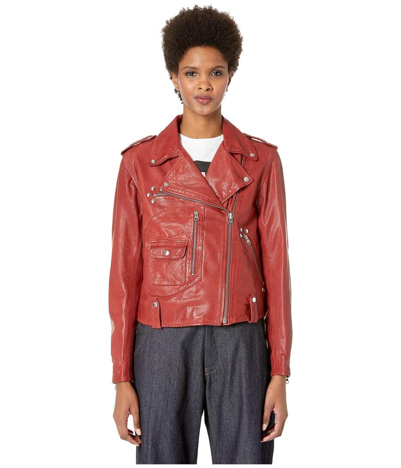 アレキサンダー・マックイーン レディース コート アウター Pocket Biker Jacket Cherry Red