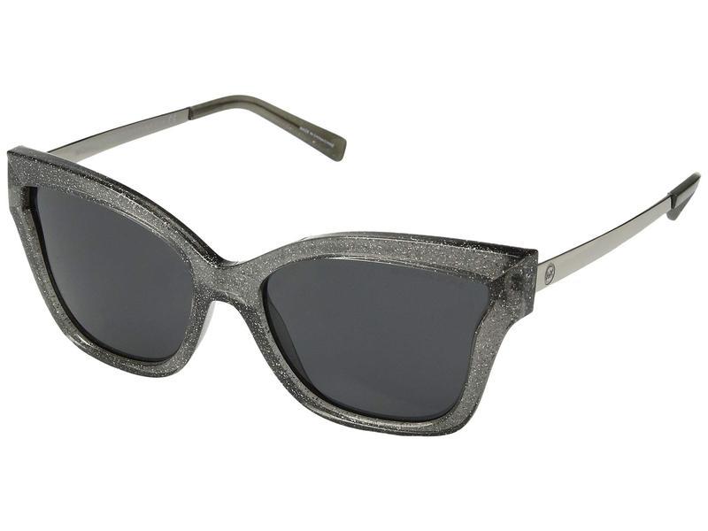 マイケルコース レディース サングラス・アイウェア アクセサリー Barbados 0MK2072 56mm Black Glitter/Dark Grey Solid