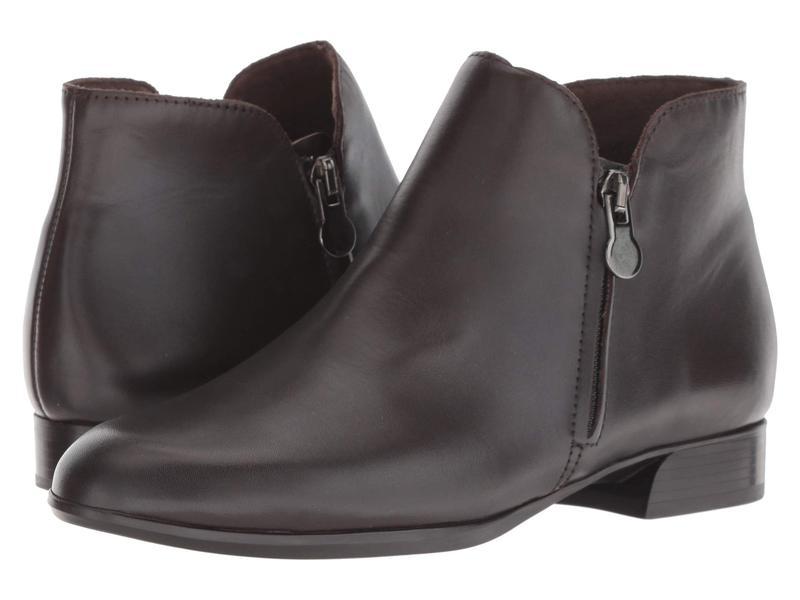 ムンロー レディース ブーツ・レインブーツ シューズ Averee Dark Brown Leather/Suede