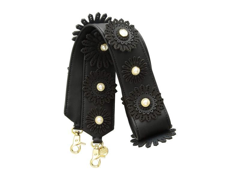 ザックポーゼン レディース ハンドバッグ バッグ All That Jazz Floral Applique Strap - Solid Black