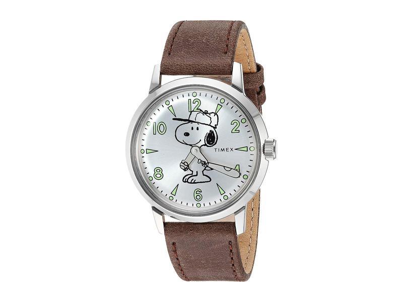 タイメックス メンズ 腕時計 アクセサリー Marlin Snoopy Silver/Brown