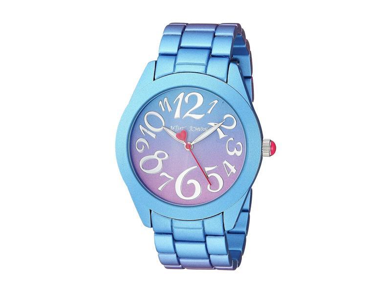 ベッツィジョンソン レディース 腕時計 アクセサリー BJ00706-01 - Purple & Blue Stainless Steel Case Watch Purple/Blue
