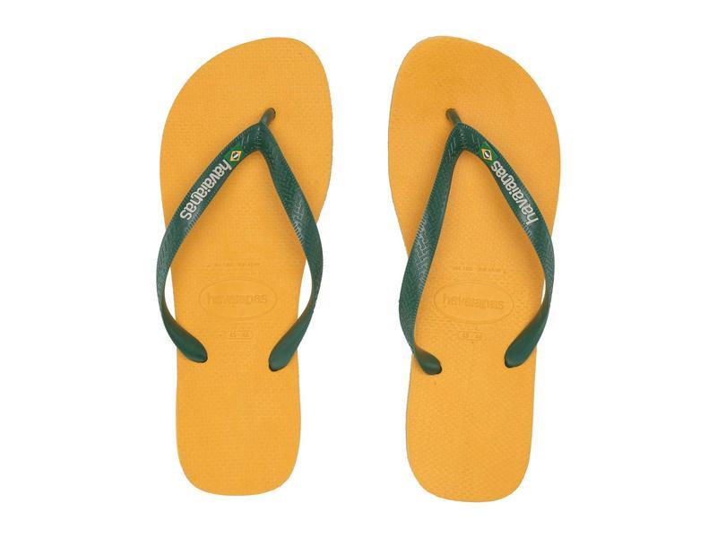 ハワイアナス メンズ サンダル シューズ Brazil Logo Flip Flops Banana Yellow