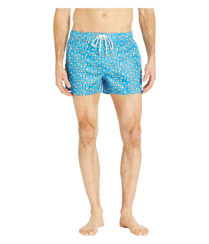 ツーイグジスト メンズ ハーフパンツ・ショーツ 水着 Fashion Woven Ibiza Swim Shorts Multi Striped Fish/Blue Aster White Drawcord