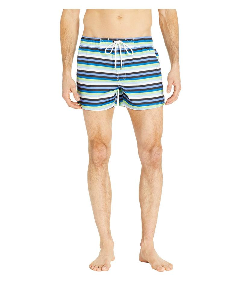 ツーイグジスト メンズ ハーフパンツ・ショーツ 水着 Fashion Woven Ibiza Swim Shorts Bold Stripe/Limeade White Drawcord