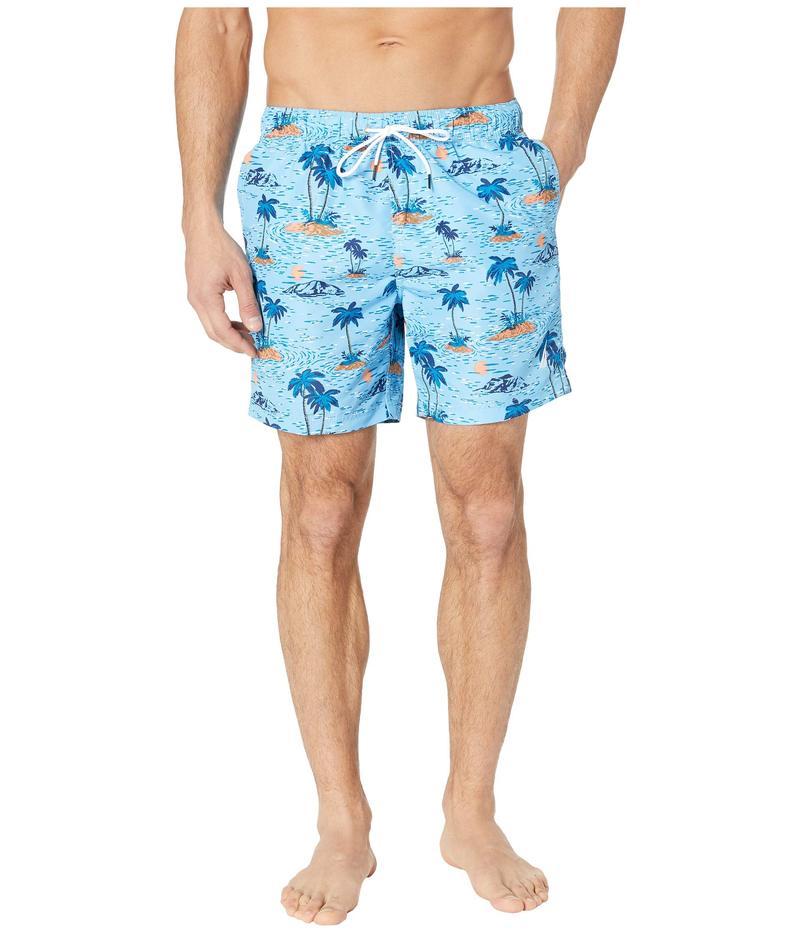 ナウティカ メンズ ハーフパンツ・ショーツ 水着 Hawaiian Print Swim Trunk Alaskian Blue