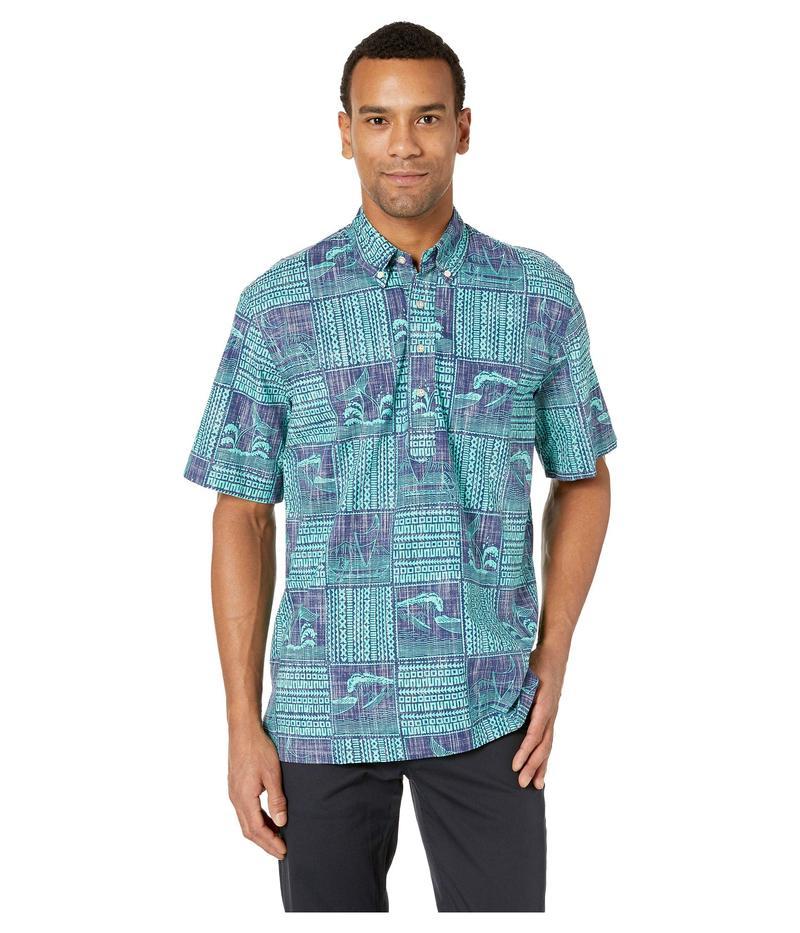 レインスプーナー メンズ シャツ トップス Oceans Playground Classic Fit Pullover Hawaiian Shirt Medieval Blue