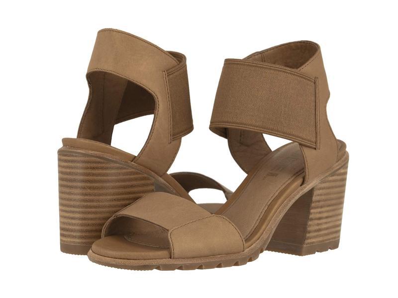 ソレル レディース ヒール シューズ Nadia Sandal Camel Brown Full Grain Leather