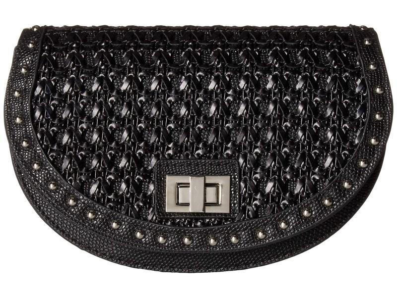 スティーブ マデン レディース ボディバッグ・ウエストポーチ バッグ Woven Belt Bag Black