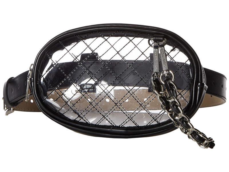 スティーブ マデン レディース ボディバッグ・ウエストポーチ バッグ Clear Belt Bag Black