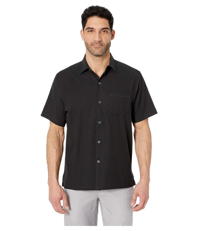 トッミーバハマ メンズ シャツ トップス Catalina Stretch Twill Shirt Black