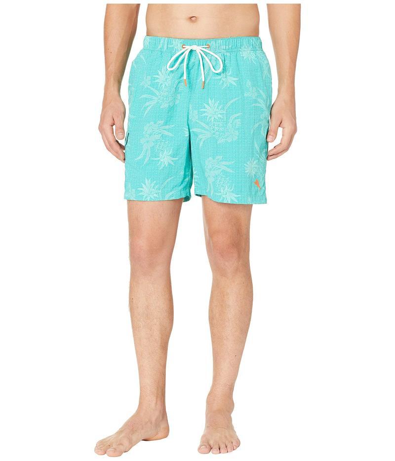 トッミーバハマ メンズ ハーフパンツ・ショーツ 水着 Naples Huli Pineapple Swim Trunk Castaway Green