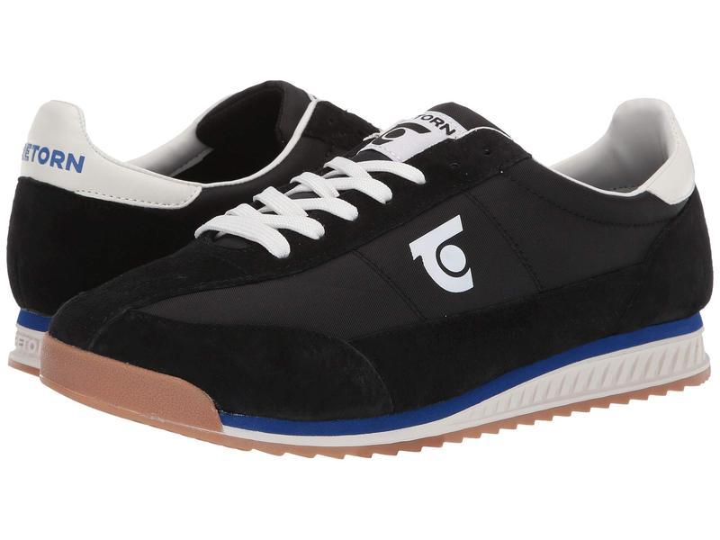 トレトン メンズ スニーカー シューズ Retro 3 Black/Black/Vintage White Leather/Textile