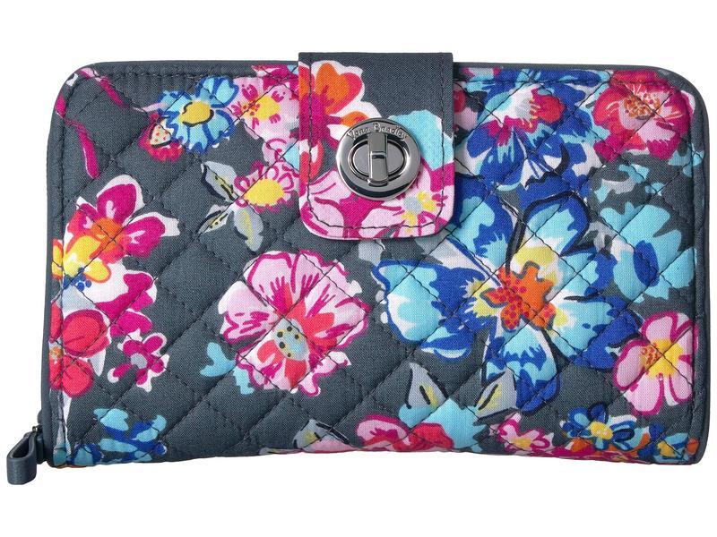 ベラブラッドリー レディース 財布 アクセサリー Iconic RFID Turnlock Wallet Pretty Posies