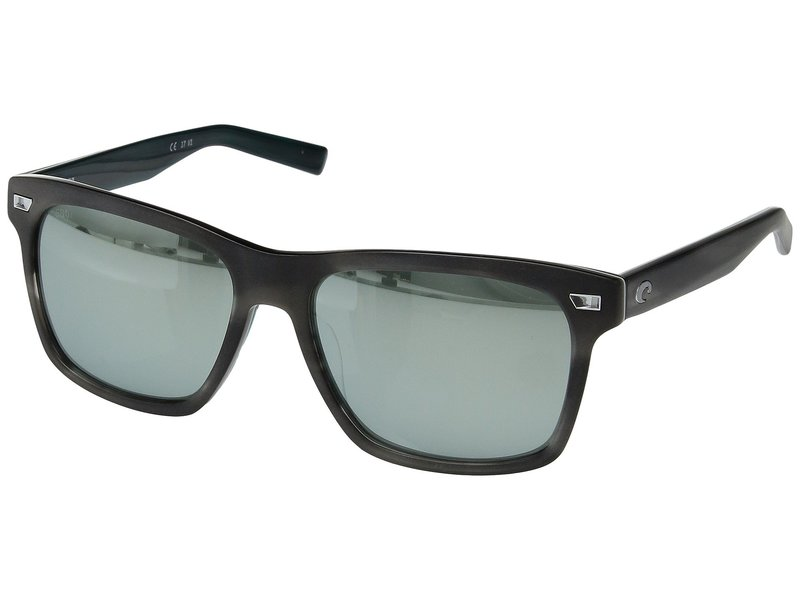 コスタ メンズ サングラス・アイウェア アクセサリー Aransas Matte Storm Gray Frame/Gray/Silver Mirror 580G