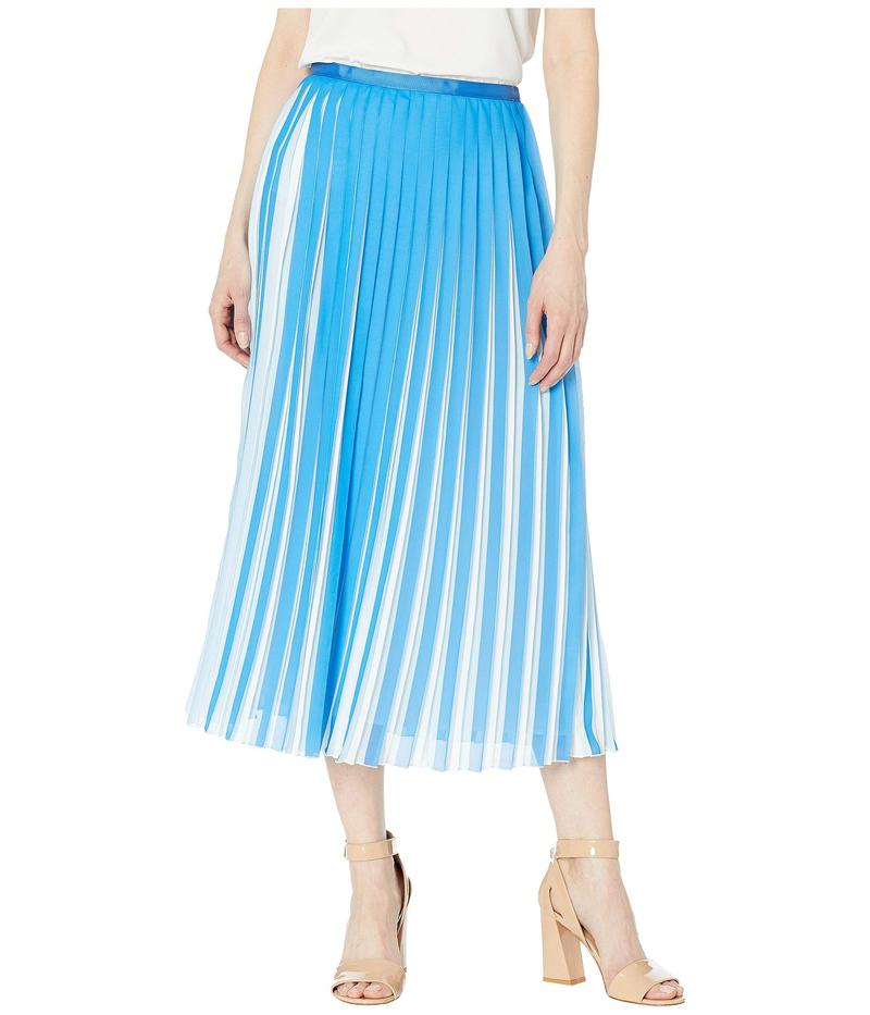 ビーシービージーマックスアズリア レディース スカート ボトムス Two-Tone Pleated Midi Skirt French Blue Combo