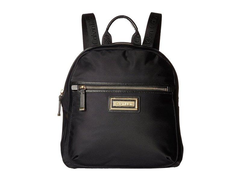 カルバンクライン レディース バックパック・リュックサック バッグ Belfast Dressy Nylon Backpack Black/Gold