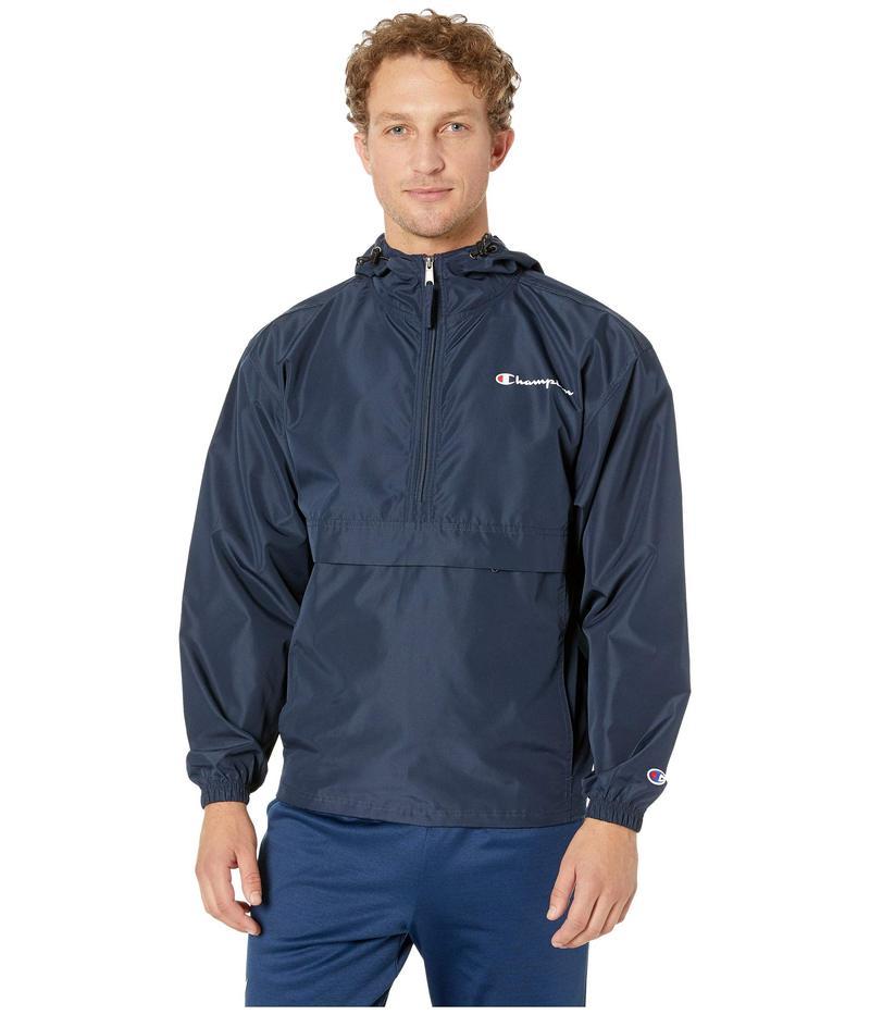 チャンピオン メンズ コート アウター Packable Jacket Navy